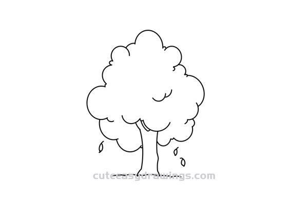 How to Draw an Autumn Tree Easy Step by Step for Kids