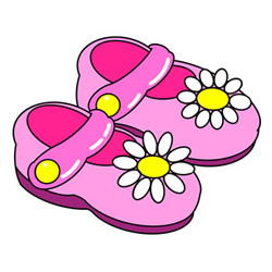 How to Draw a Pair of Girl's Sandals Easy Step by Step for Kids