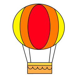How to Draw a Cartoon Hot Air Balloon Easy Step by Step for Kids