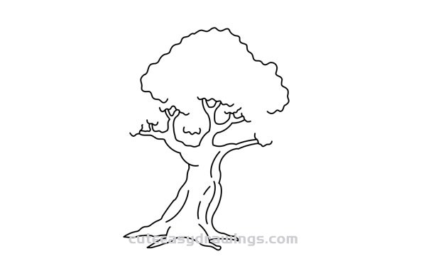 How to Draw a Lush Tree Easy Step by Step for Kids
