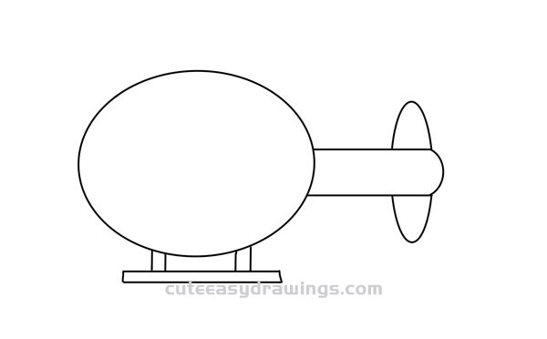 How to Draw a Cartoon Helicopter Easy Step by Step for Kids