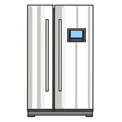 How to Draw a Side-by-Side Refrigerator Easy Step by Step for K