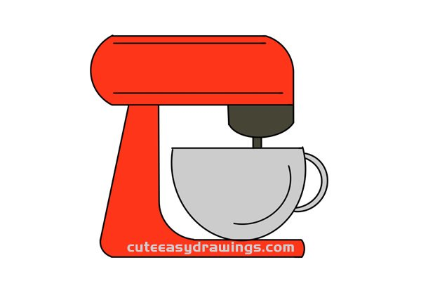 How to Draw a Coffee Machine Easy Step by Step for Kids