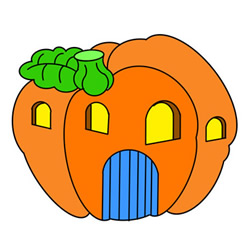 How to Draw a Jack-O'-Lantern House Easy Step by Step for Kids