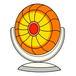 How to Draw a Circular Heater Easy Step by Step for Kids