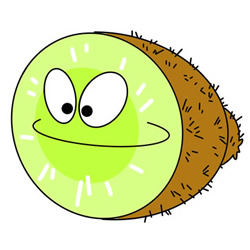 How to Draw a Cartoon Kiwi Fruit Easy Step by Step for Kids