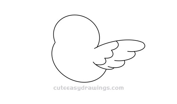 How to Draw a Cute Flying Bird Easy Step by Step for Kids