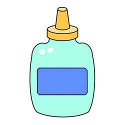 How to Draw a Bottle of Glue Easy Step by Step for Kids