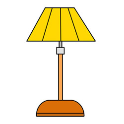How to Draw a Cute Table Lamp Easy Step by Step for Kids