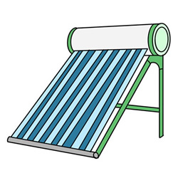 How to Draw a Solar Water Heater Easy Step by Step for Kids