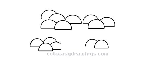How to Draw Guest-Greeting Pine Easy Step by Step for Kids