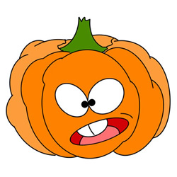 How to Draw a Cartoon Pumpkin Easy Step by Step for Kids