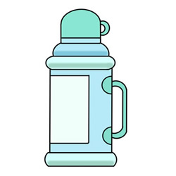 How to Draw an Old Thermos Easy Step by Step for Kids