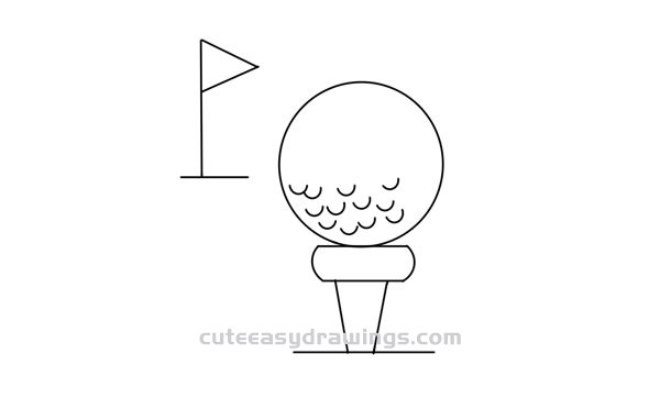 How to Draw a Golf Ball Easy Step by Step for Kids - Cute ...