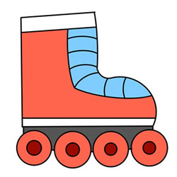 How to Draw a Roller Skate Easy Step by Step for Kids