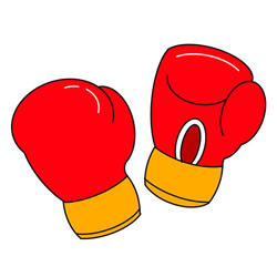 How to Draw Boxing Gloves Easy Step by Step for Kids