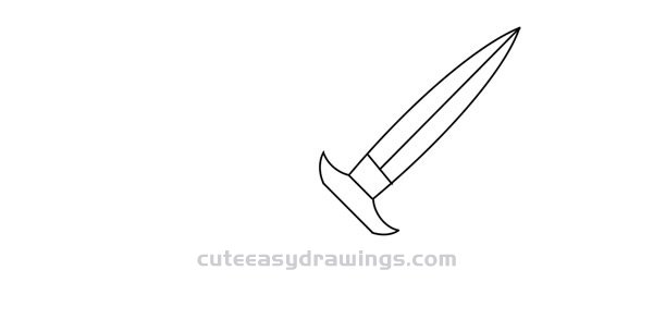 How to Draw a Knife Easy Step by Step for Kids