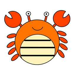How to Draw a Cute Crab Easy Step by Step for Kids