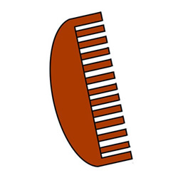 How to Draw a Wooden Comb Easy Step by Step for Kids