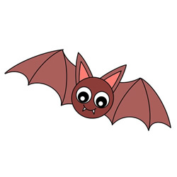 How to Draw a Cartoon Vampire Bat Easy Step by Step for Kids