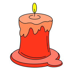 How to Draw a Lit Candle Easy Step by Step for Kids
