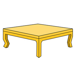 How to Draw a Yellow Coffee Table Easy Step by Step for Kids