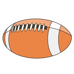 How to Draw a Football Easy tutorial for Kids