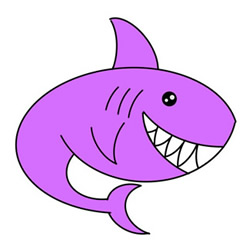 How to Draw a Cute Shark Easy Step by Step for Kids