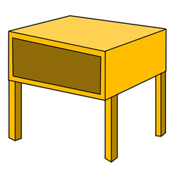 How to Draw a Wooden School Desk Easy Step by Step for Kids