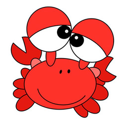 How to Draw a Crab Drawing Images Step by Step for Kids