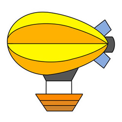 How to Draw a Cartoon Airship Easy Step by Step for Kids