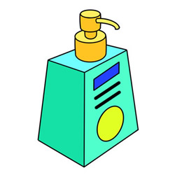 How to Draw a Bottle of Hand Sanitizer Easy Step by Step for Ki
