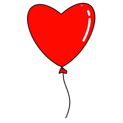 How to Draw a Love Heart Balloon Easy Step by Step for Kids