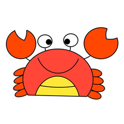 How to Draw a Crab Drawings for Kids
