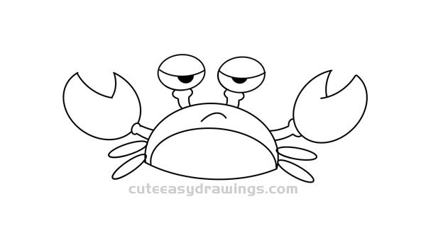 How to Draw a Funny Crab Tutorial for Kids