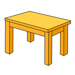 How to Draw a Wooden Stool Easy Step by Step for Kids