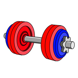 How to Draw an Adjustable Dumbbell Easy Step by Step for Kids