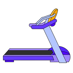 How to Draw a Treadmill Easy Step by Step for Kids