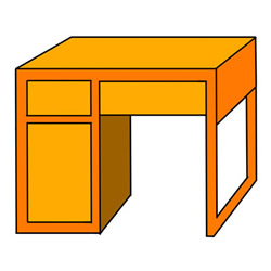How to Draw a Desk Easy Step by Step for Kids
