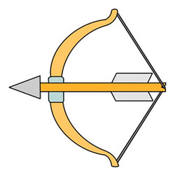 How to Draw a Bow and Arrow Easy Step by Step for Kids