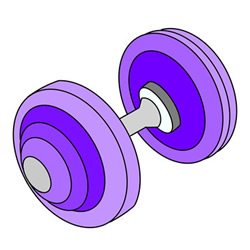Dumbbell Drawing Step by Step for Kids