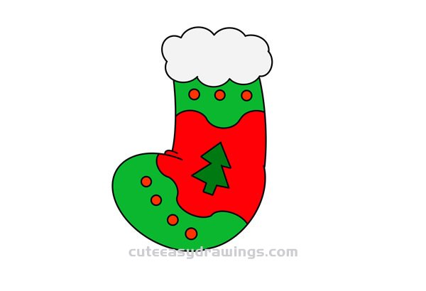 How to Draw a Christmas Stocking for Kids