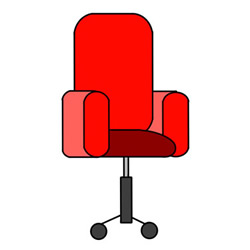 How to Draw a Swivel Chair Easy Step by Step for Kids