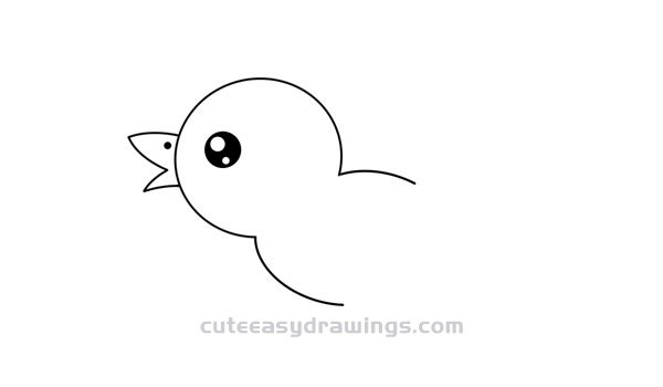 How to Draw a Yellow Bird Easy Step by Step for Kids