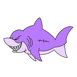 How to Draw a Badass Shark Step by Step for Kids