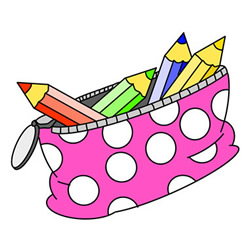 How to Draw a Pencil Case Easy Step by Step for Kids