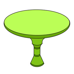 How to Draw a Round Table Easy Step by Step for Kids