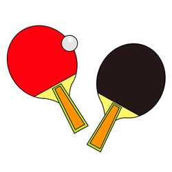 How to Draw a Table Tennis Racket Easy Step by Step for Kids