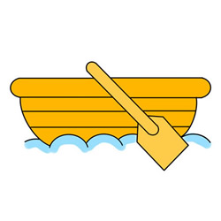 How to Draw a Wooden Boat Easy Step by Step for Kids
