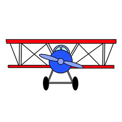 How to Draw a Biplane Easy Step by Step for Kids